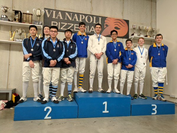 Senior Epee Teams School Champ 2017