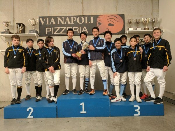U15 Boys Foil Team Premiership winners