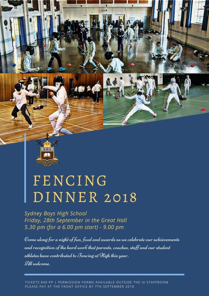 1_2018 - SBHS Fencing Dinner [Poster] FINAL