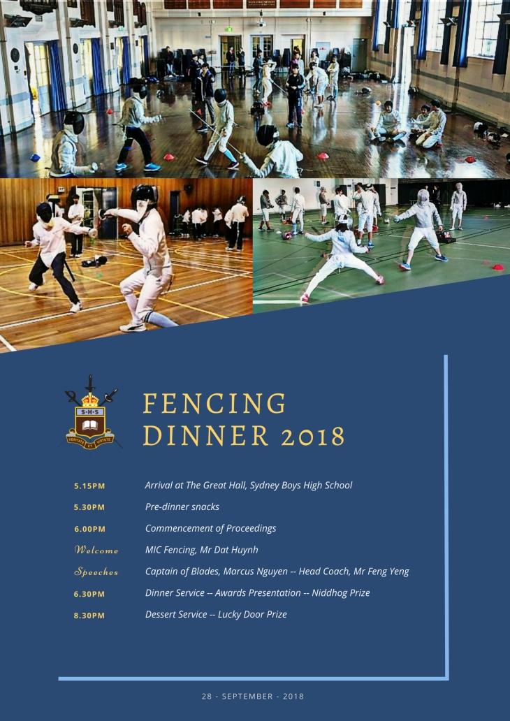 4_2018 - SBHS Fencing Dinner [Programme] FINAL